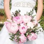 svatební kytice z pivoněk